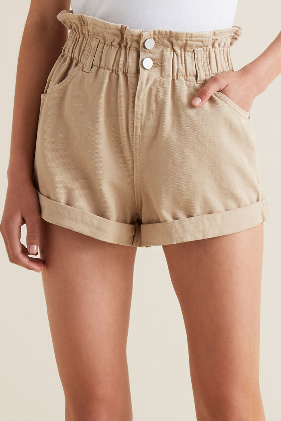 Paperbag Shorts  MOCHA  hi-res