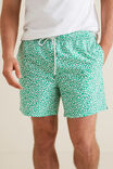 Mens Mini Me Floral Board Short, CLOVER, hi-res