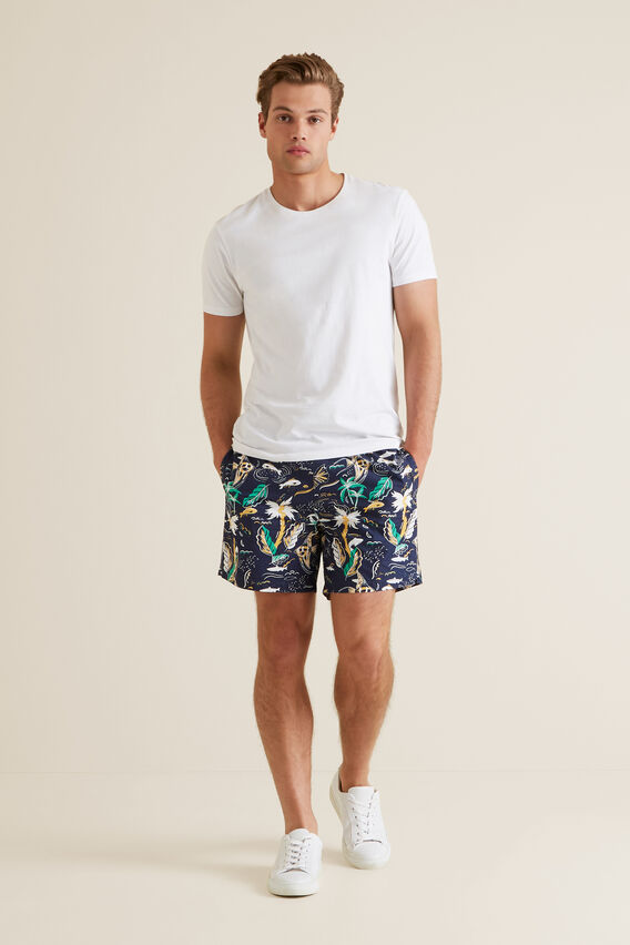 Mens Mini Me Hawaii Board Short  MIDNIGHT BLUE  hi-res