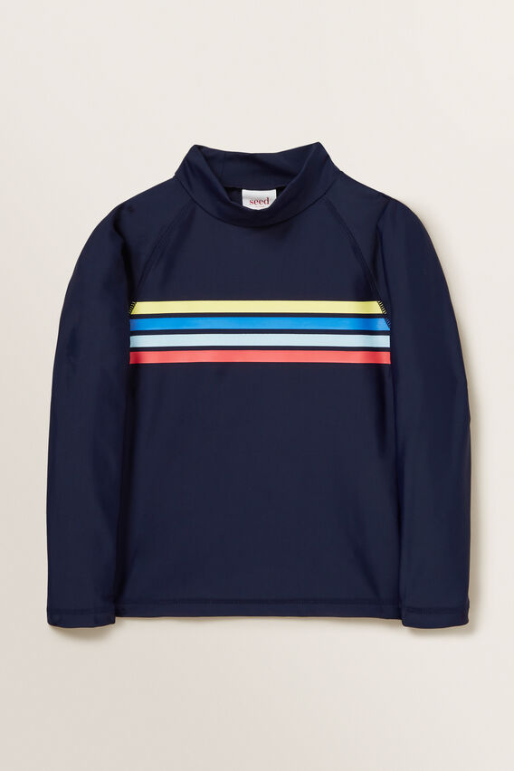 Retro Stripe Rashvest  MIDNIGHT BLUE  hi-res