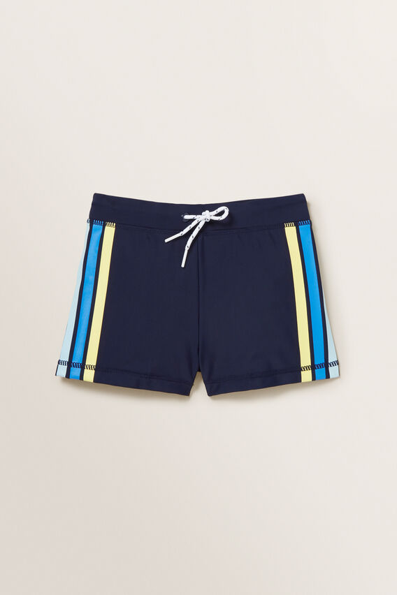 Retro Stripe Short  MIDNIGHT BLUE  hi-res