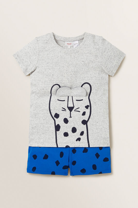 Novelty Leopard Pyjama  BRIGHT COBALT  hi-res