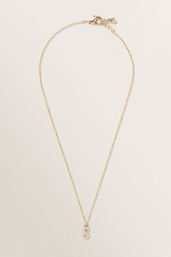 Initial Pearl Necklace  S  hi-res
