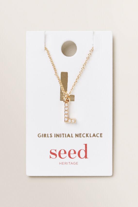 Initial Pearl Necklace  L  hi-res