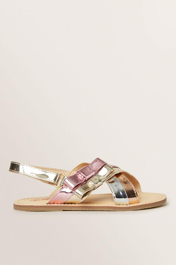 Patent Bow Sandal  MULTI  hi-res