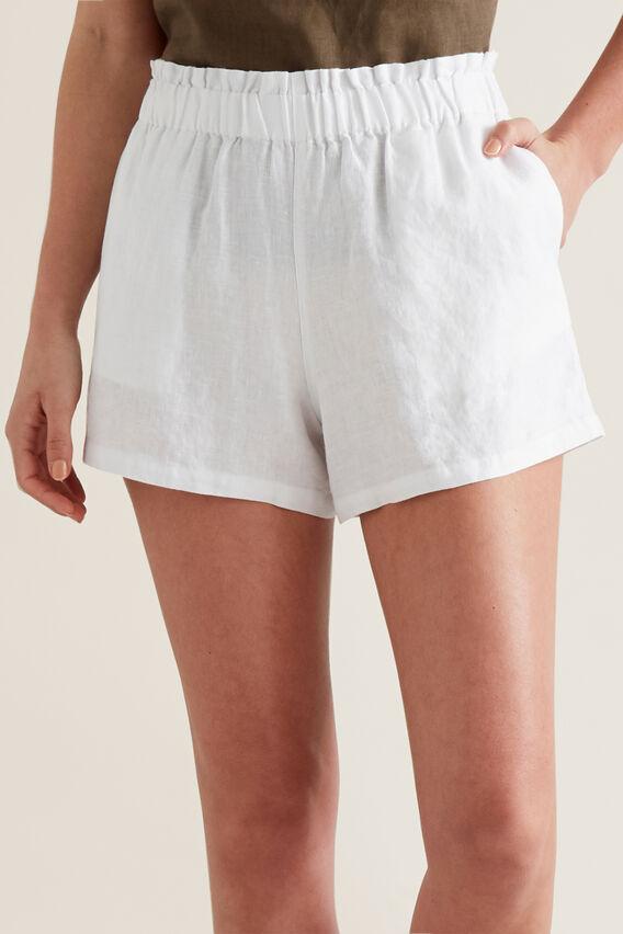Linen Relaxed Short  WHISPER WHITE  hi-res