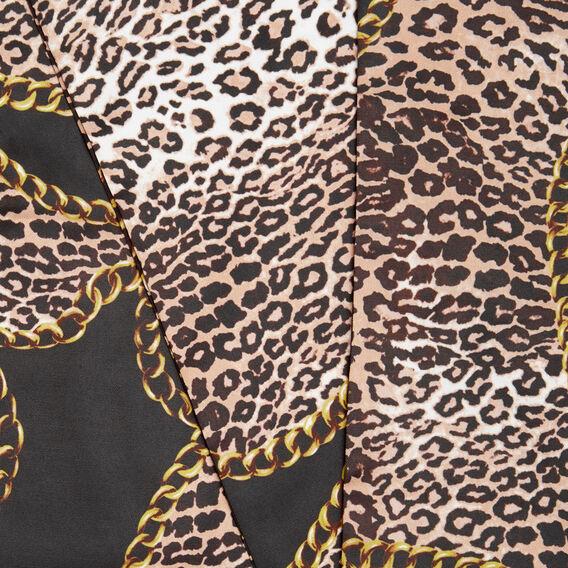 Chain Animal Scarf  BLACK MULTI  hi-res