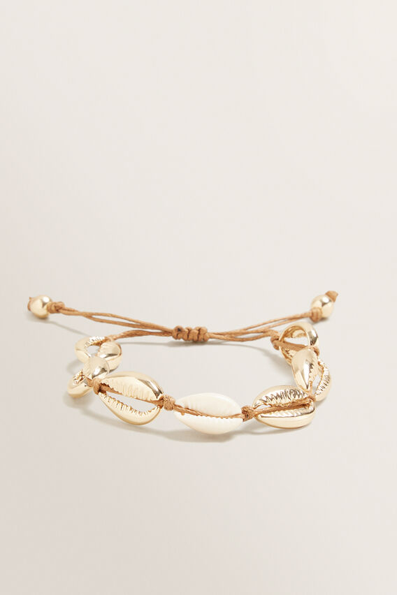 Adjustable Shell Bracelet  GOLD  hi-res