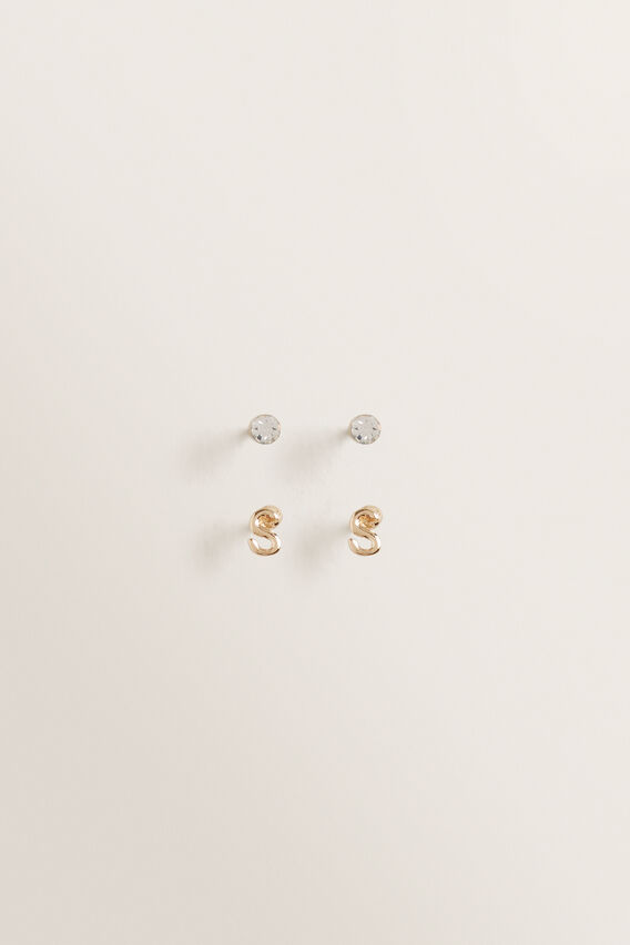 Initial Earring Pack  S  hi-res