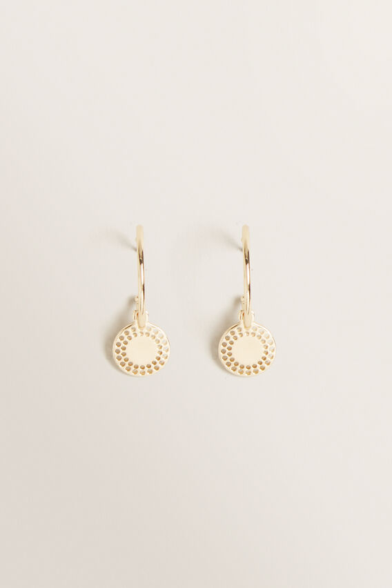 Mini Sun Disc Earring  GOLD  hi-res