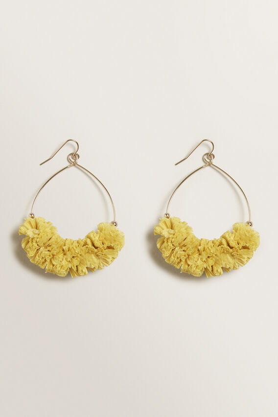 Ruffle Hoops  GOLD  hi-res