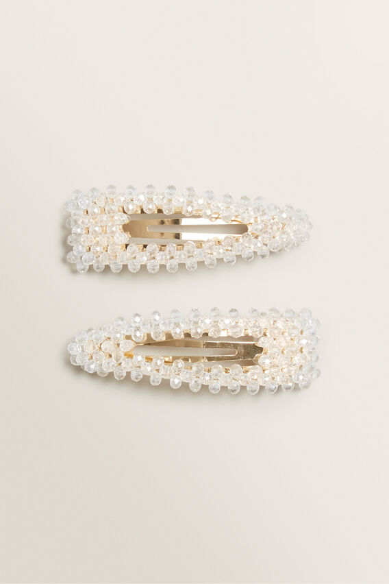 Clear Beaded Clips  CLEAR  hi-res