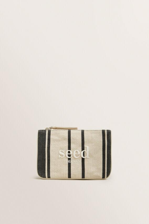Seed Pouch  CREAM/BLACK STRIPE  hi-res