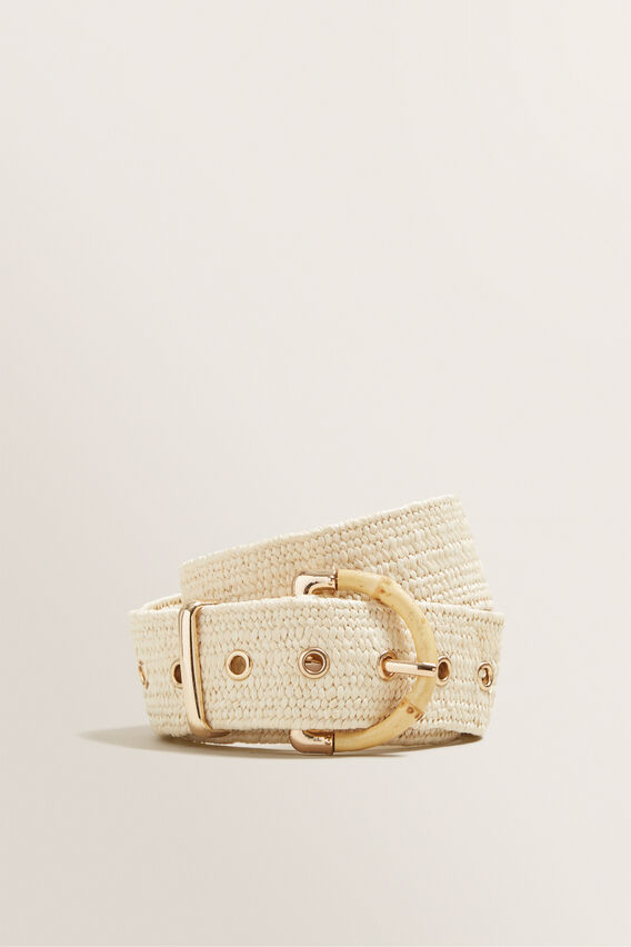 Bamboo Stretch Belt  CREAM  hi-res