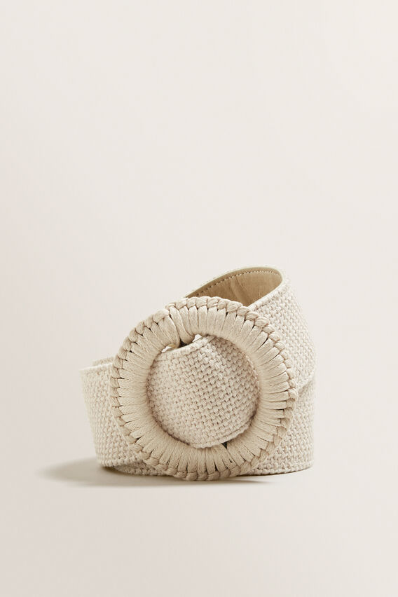 Weave Buckle Belt  CREAM  hi-res