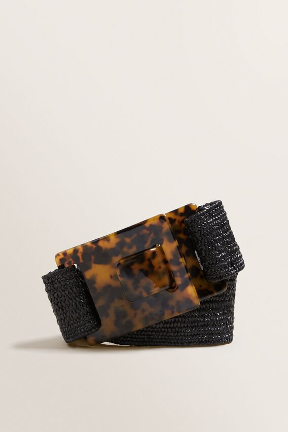 Tort Buckle Belt  BLACK  hi-res