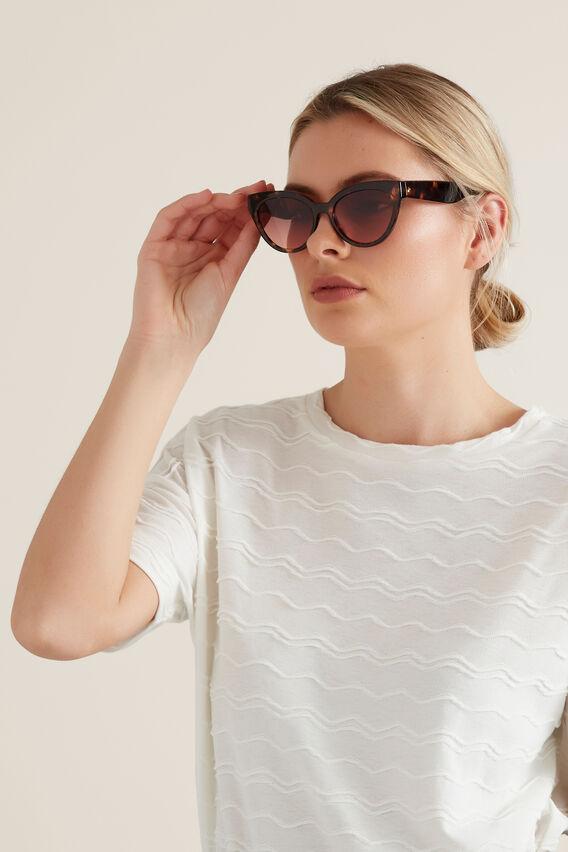 Nikki Cat Eye Sunglasses  TORT  hi-res