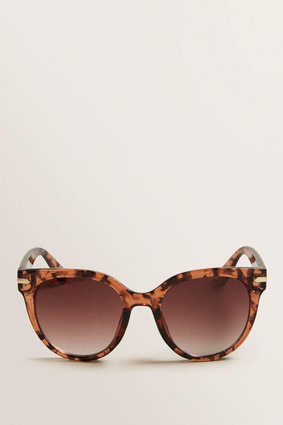 Grace Round Sunglasses  BROWN TORT  hi-res