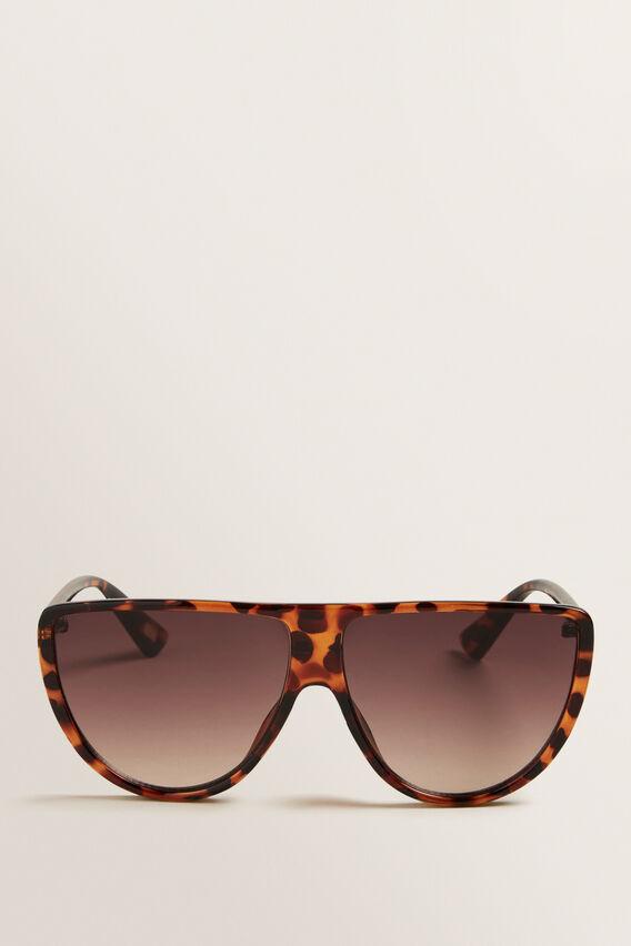 Mila Flat Top Sunglasses  BROWN TORT  hi-res