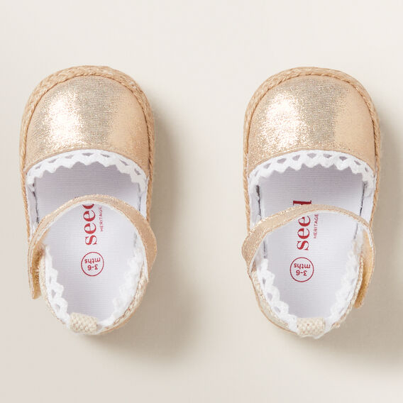 Metallic Espadrilles  GOLD  hi-res