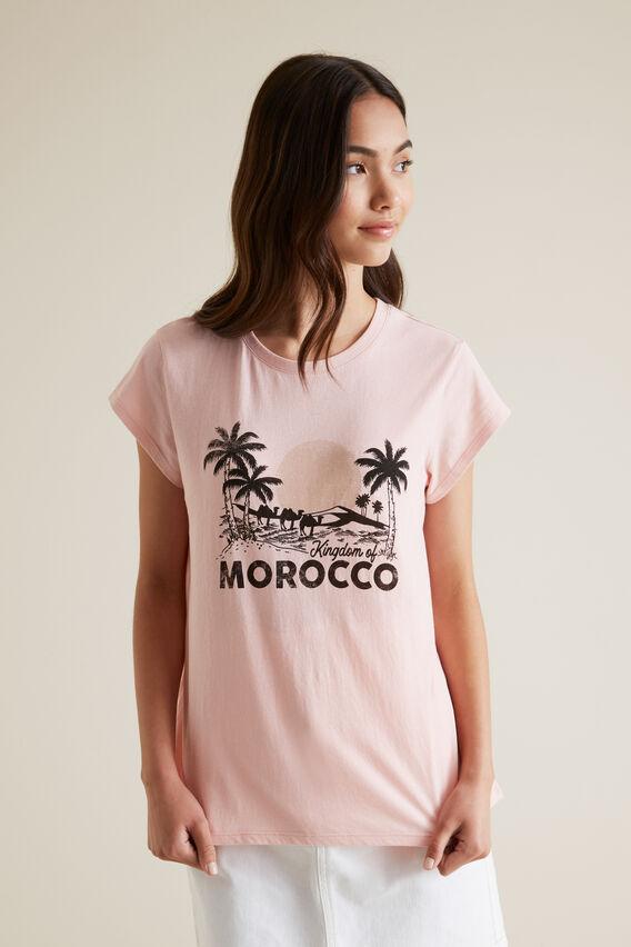Morocco Short Sleeve Tee  CLAY PINK  hi-res