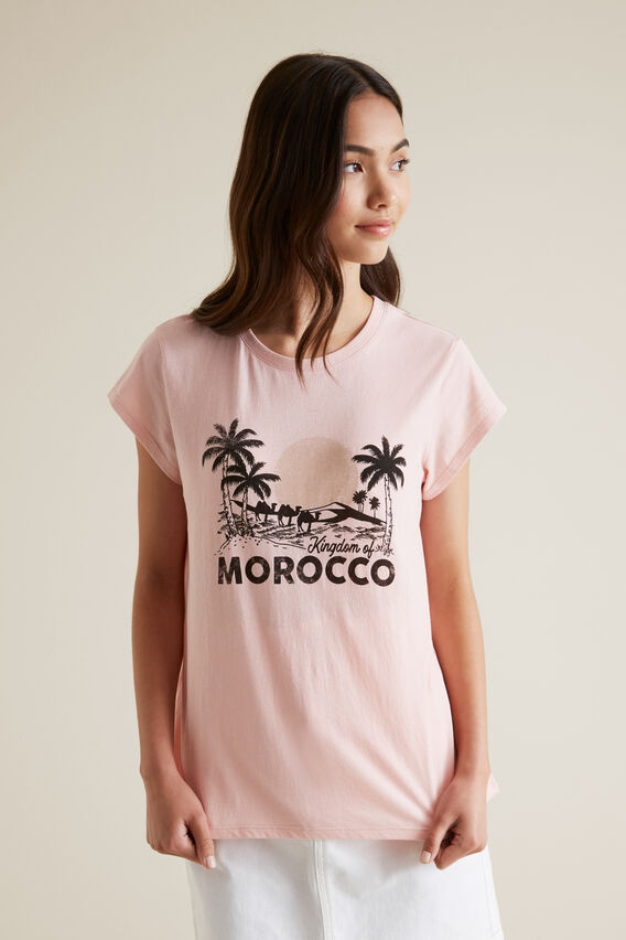 Morocco Short Sleeve Tee  CLAY PINK  hi-res