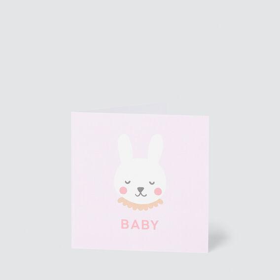 Small Baby Bunny Card  MULTI  hi-res
