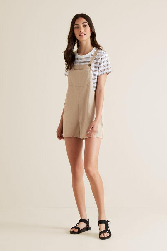 Linen Blend Shortall  MOCHA  hi-res