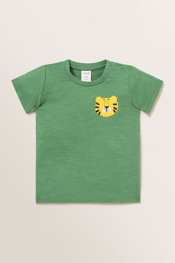 Lion Chest Motif Tee  FOREST  hi-res