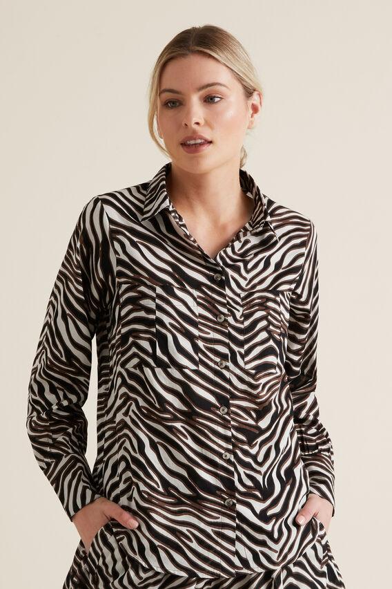 Zebra Voile Shirt  ZEBRA PRINT  hi-res