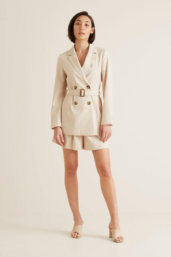 Soft Belted Jacket   TEXTURED DESERT  hi-res
