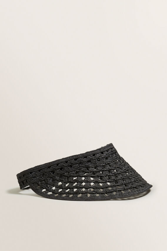 Cutwork Visor  BLACK  hi-res