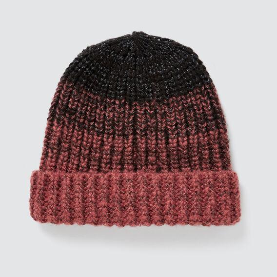 Gradient Knit Beanie  NAVY/ DUSTY ROSE  hi-res