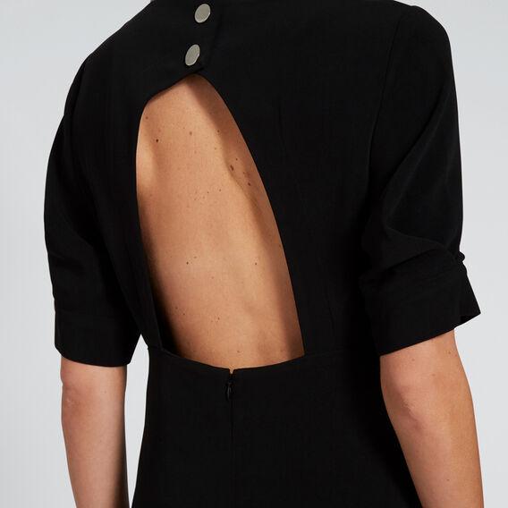 Front Split Dress  BLACK  hi-res