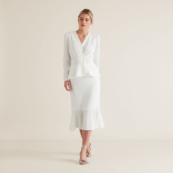 Peplum Skirt  CLOUD CREAM  hi-res