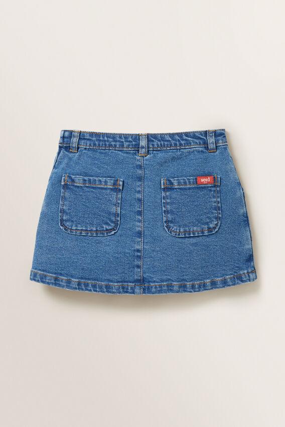 Denim Utility Skirt  CLASSIC BLUE  hi-res