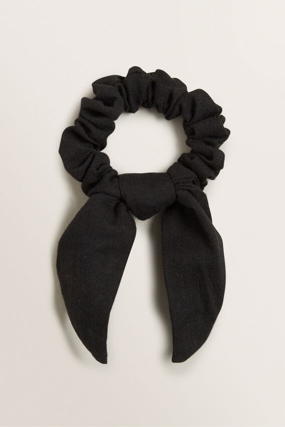 Knot Scrunchie  BLACK  hi-res