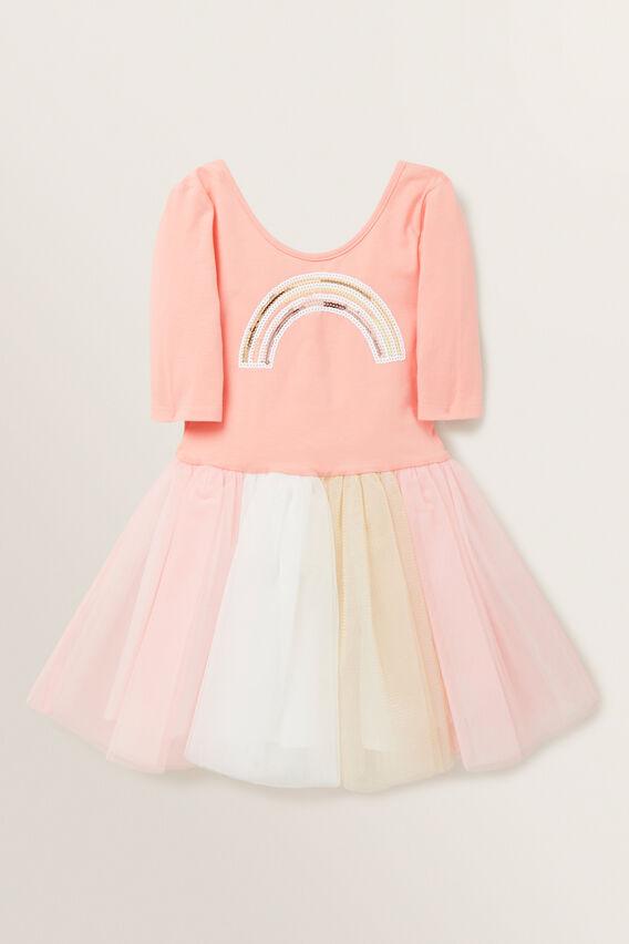 Rainbow Tutu Dress  PEACH  hi-res
