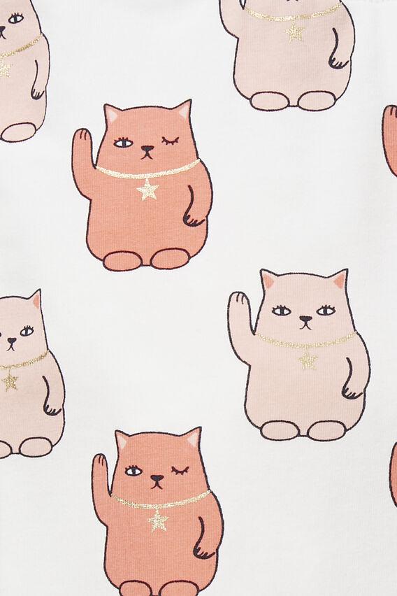 Lucky Cat Legging  WHITE  hi-res