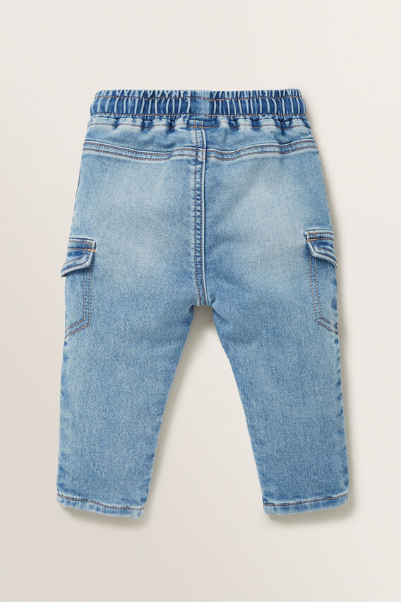 Denim Terry Pant  MID BLUE WASH  hi-res