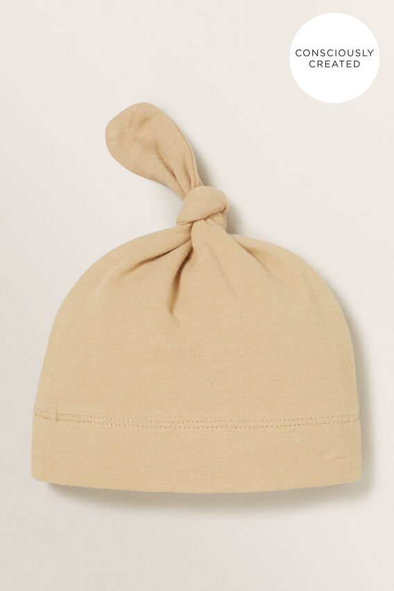 Organic Knot Hat  WHEAT  hi-res