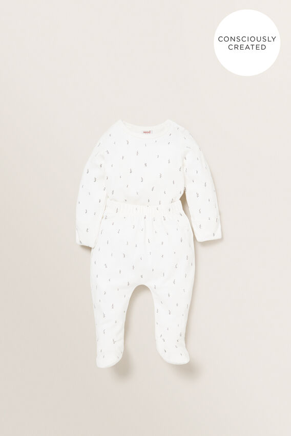 Organic Mitten Bodysuit  CANVAS  hi-res
