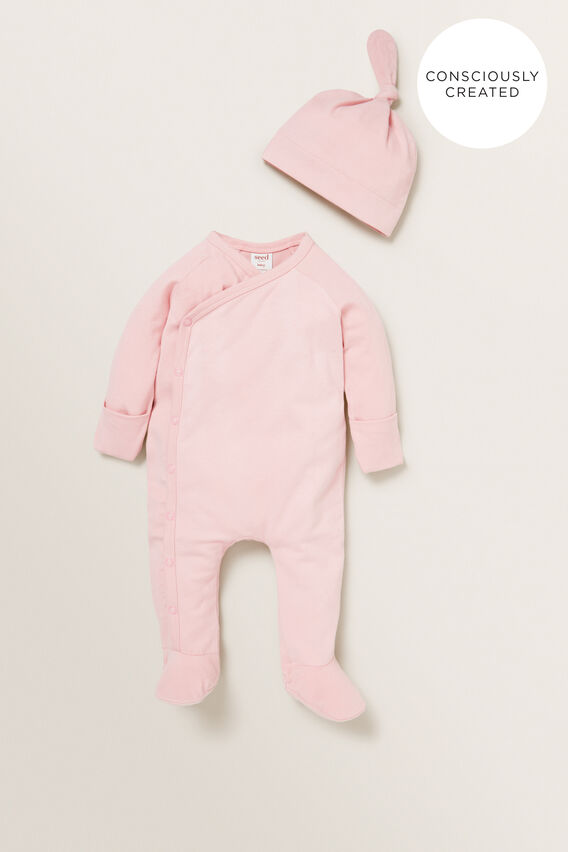 Organic Wrap Jumpsuit  BLUSH PINK  hi-res