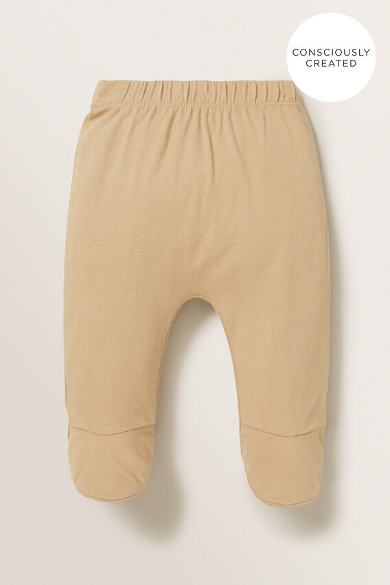 Organic Footed Leggings  WHEAT  hi-res