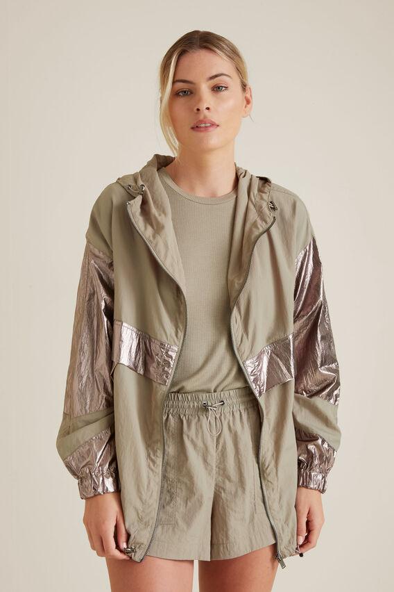 Contrast Leisure Jacket  SOFT KHAKI  hi-res