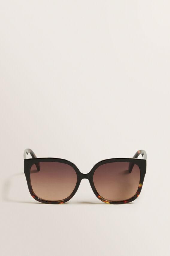 Ella Cat Eye Sunglasses  BLACK/TORT  hi-res