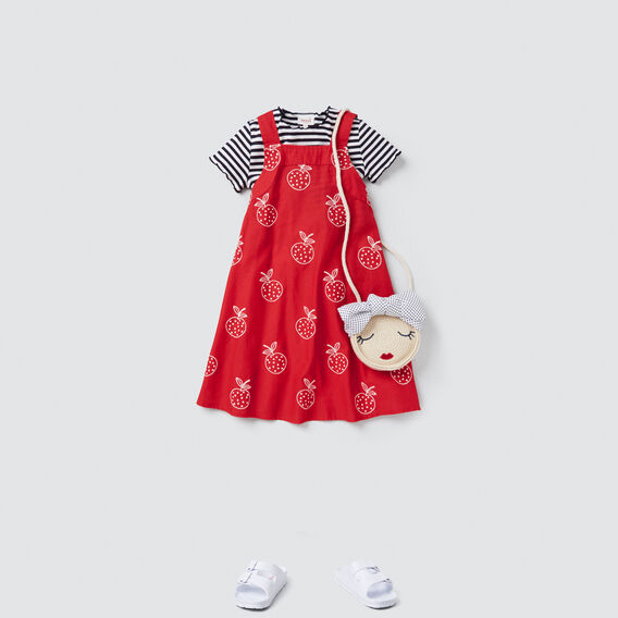 Apple Embroidered Dress  APPLE RED  hi-res
