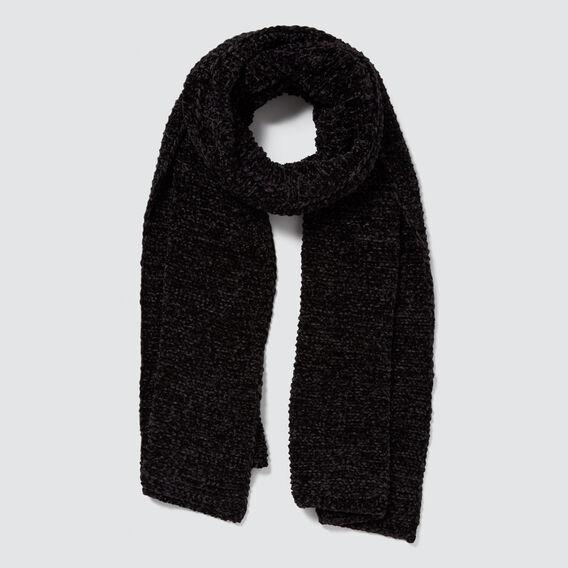 Wrap Knit Scarf  BLACK  hi-res