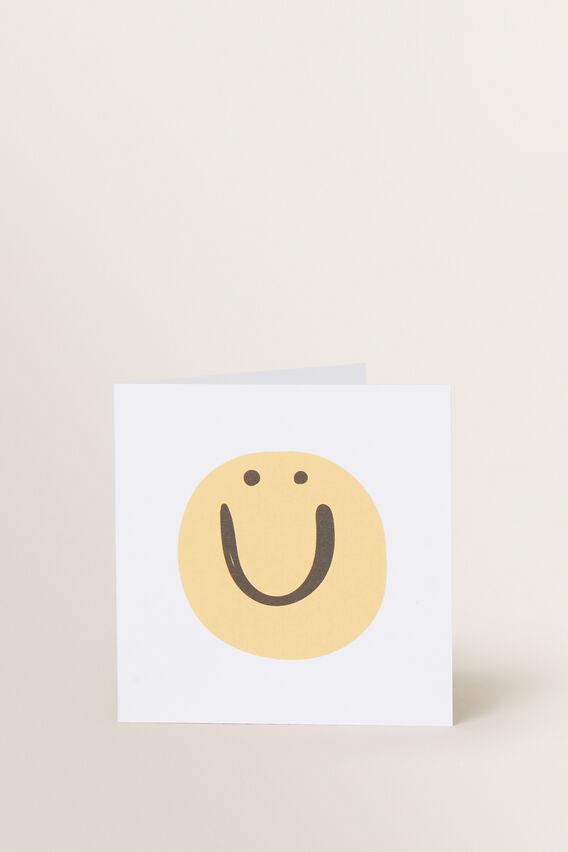 Small Smile Face Card  MULTI  hi-res