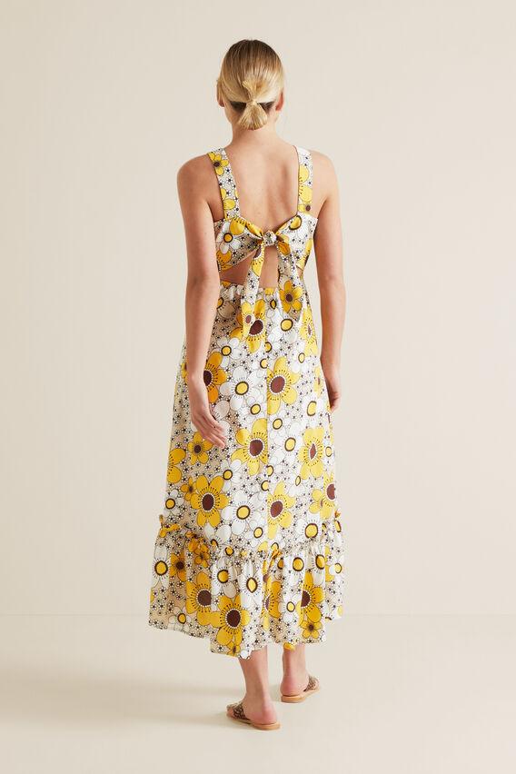 Retro Floral Hi-Lo Dress  VINTAGE FLORAL  hi-res